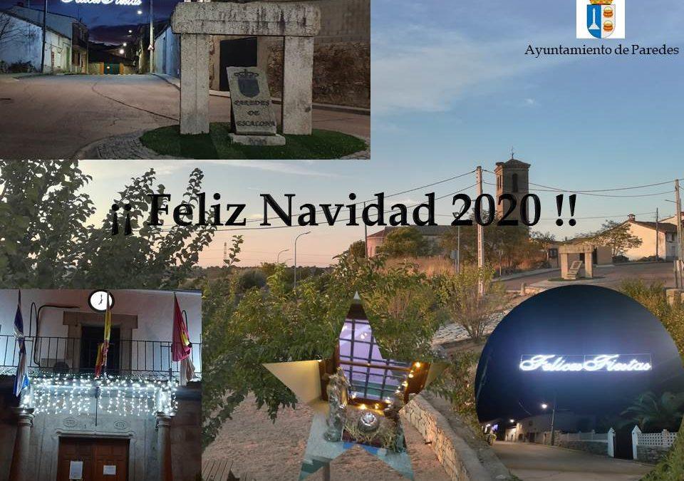 Feliz Navidad 2020 - Ayuntamiento de Paredes de Escalona